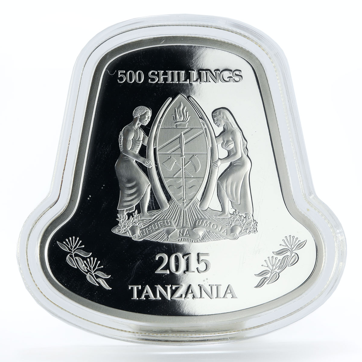 Tanzania 500 shillings Year of the Goat hologram silver coin 2015