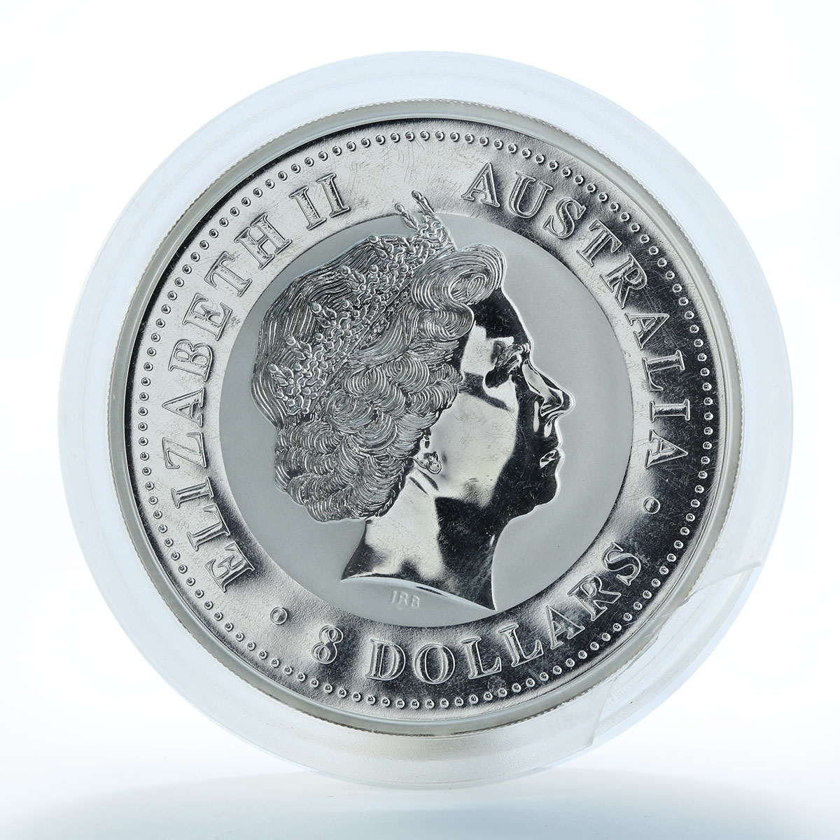 Australia 8 dollars Year of the Dog Lunnar Series I 5 oz Silver Coin 2006