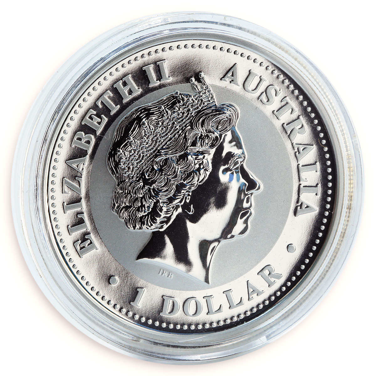 Australia, 1 Dollar, Year of the Horse silver gilded coin 1 oz 2002