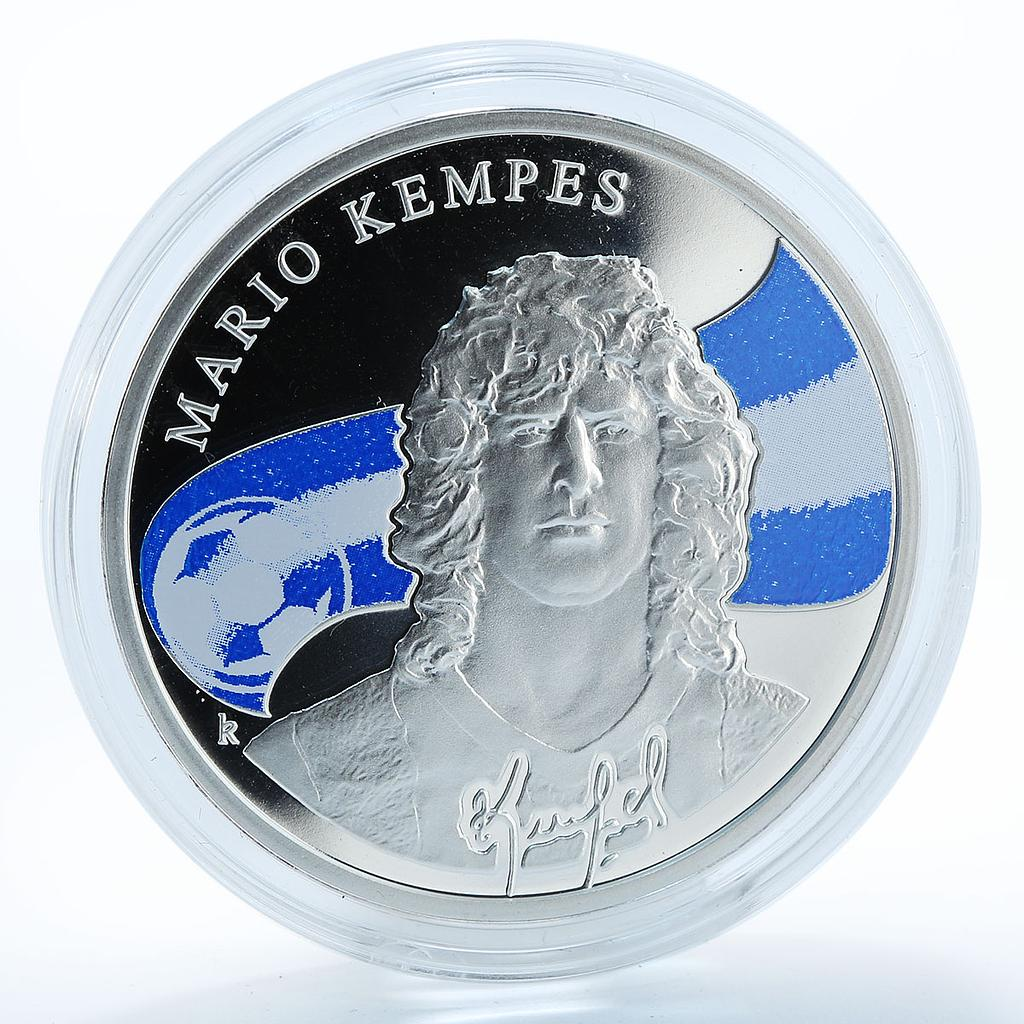 Armenia 100 drams Mario Kempes Argentine footballer silver coloured proof 2010