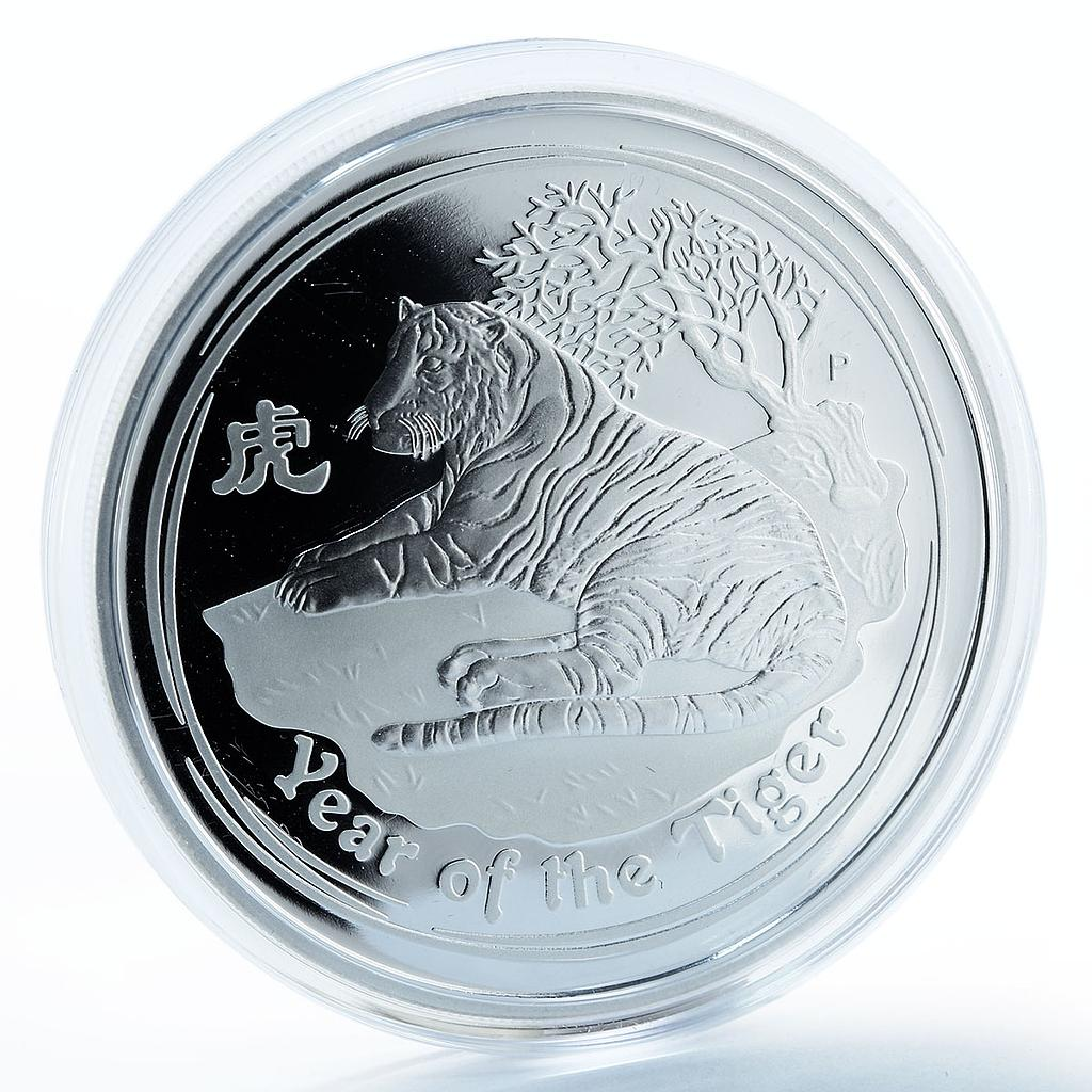 Australia 2 dollars Year of the Tiger Lunar Calendar Series II silver proof 2010