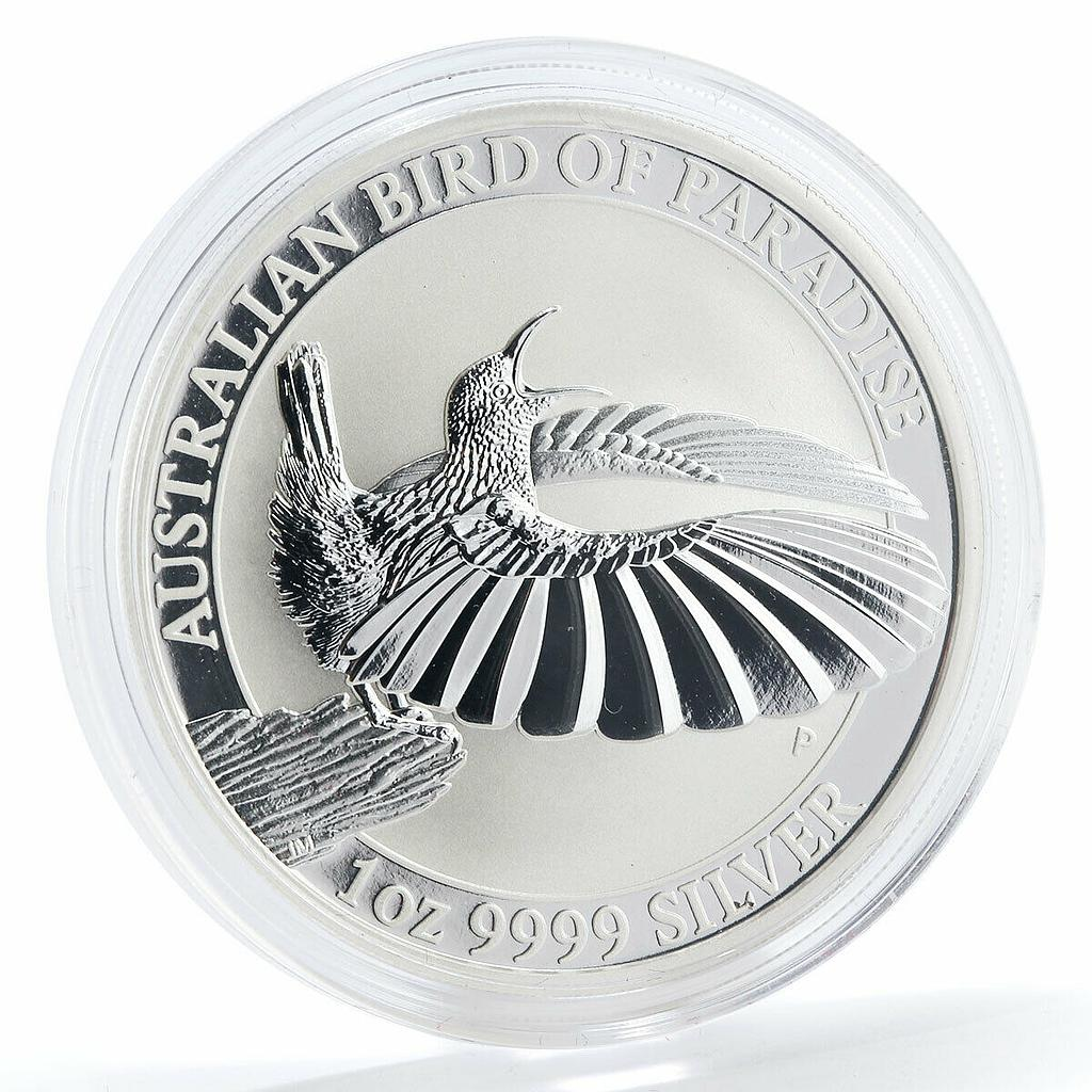 Australia 1 dollar Bird of Paradise silver coin 2018