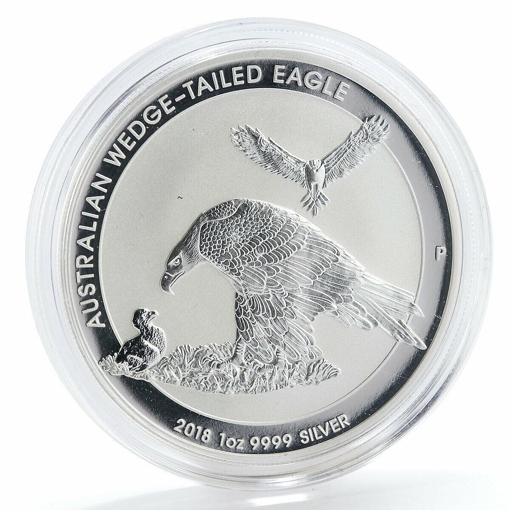 Australia 1 dollar Australian Wedge-Tailed silver coin 2018