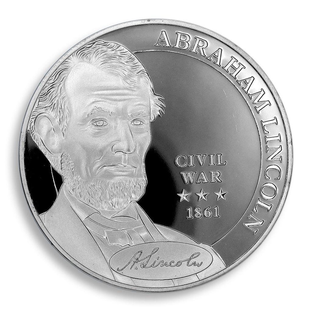 Abraham Lincoln, USA, Commander in Chief, President, Silver Plated, Civil War