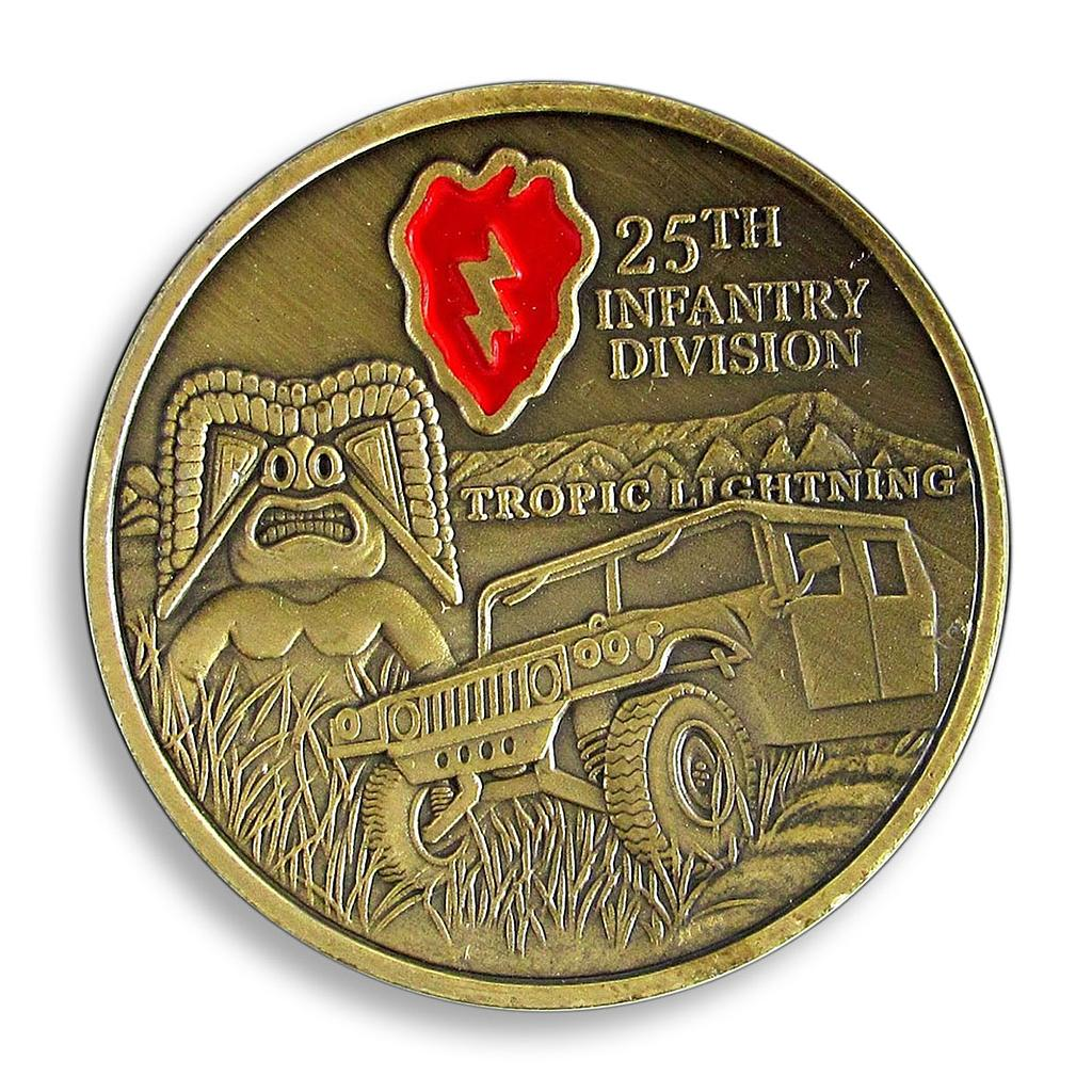 USA, 25th infantry division, Tropic Lightning, Courage Military Duty Honor Token