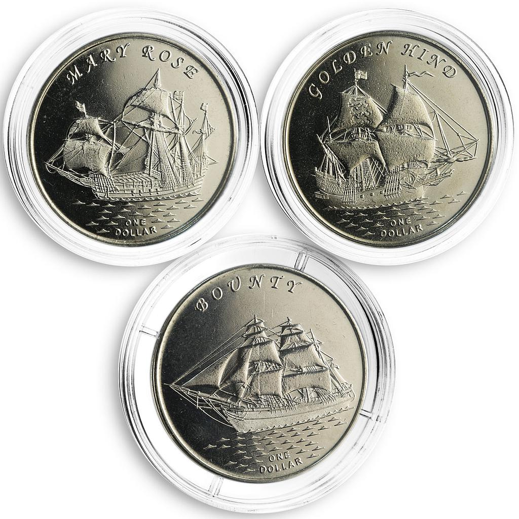 Gilbert Islands set of 3 coins Ships 2015
