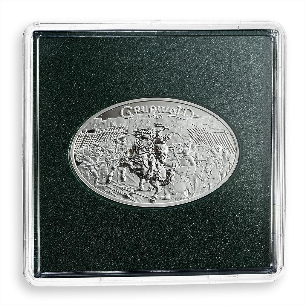 Poland, 10 PLN, the Battle of Grunwald, warrior, silver coin, 2010