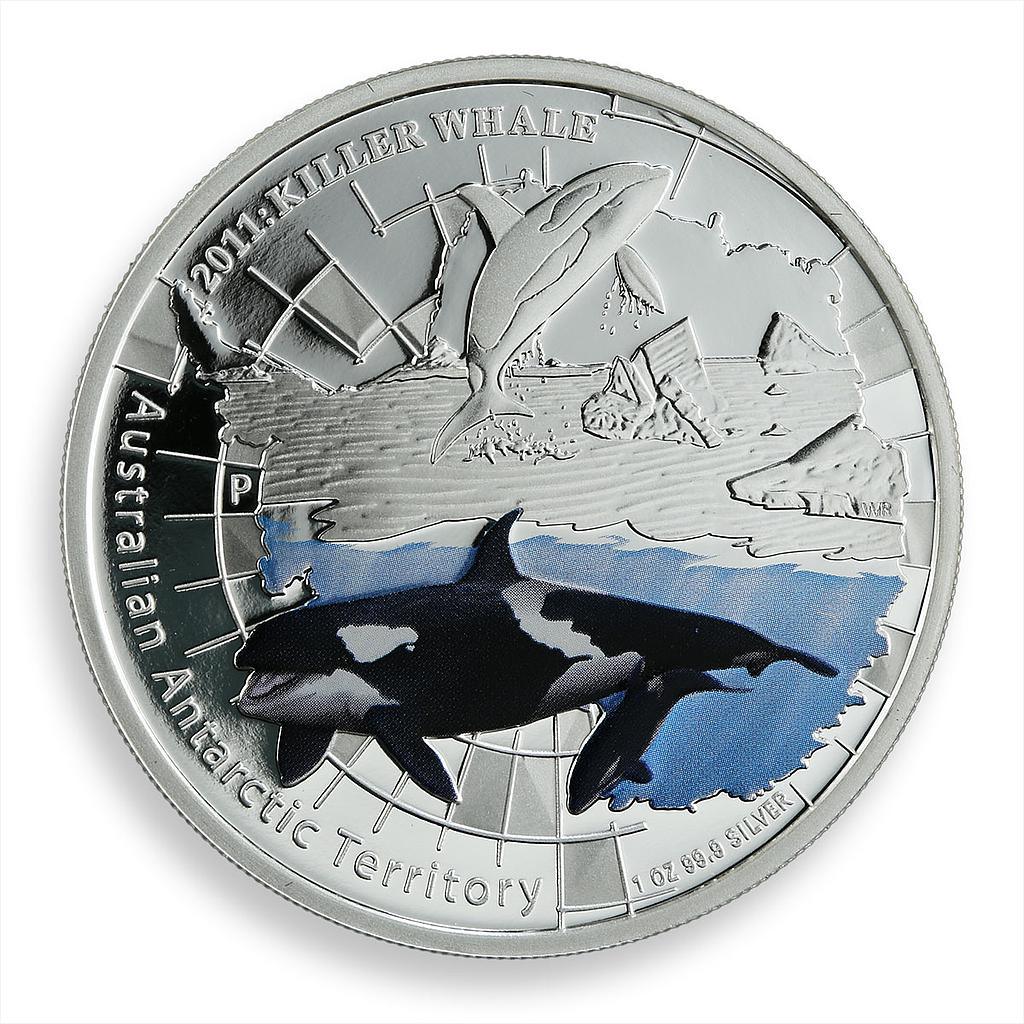 Australia 1 dollar Antarctic Territory Killer Whale silver proof 1 oz coin 2011