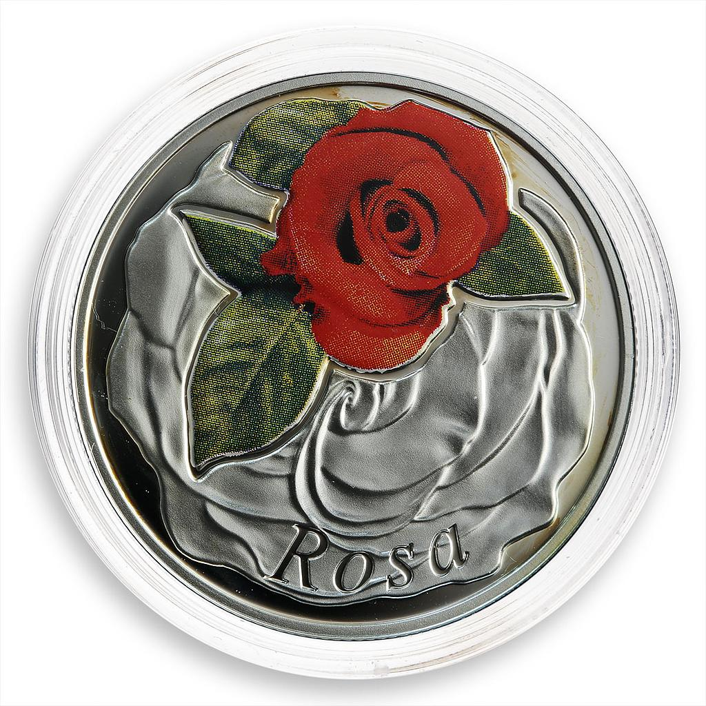 Belarus 10 Roubles Series Beauty of Flowers Rose Flora Proof coin 2013