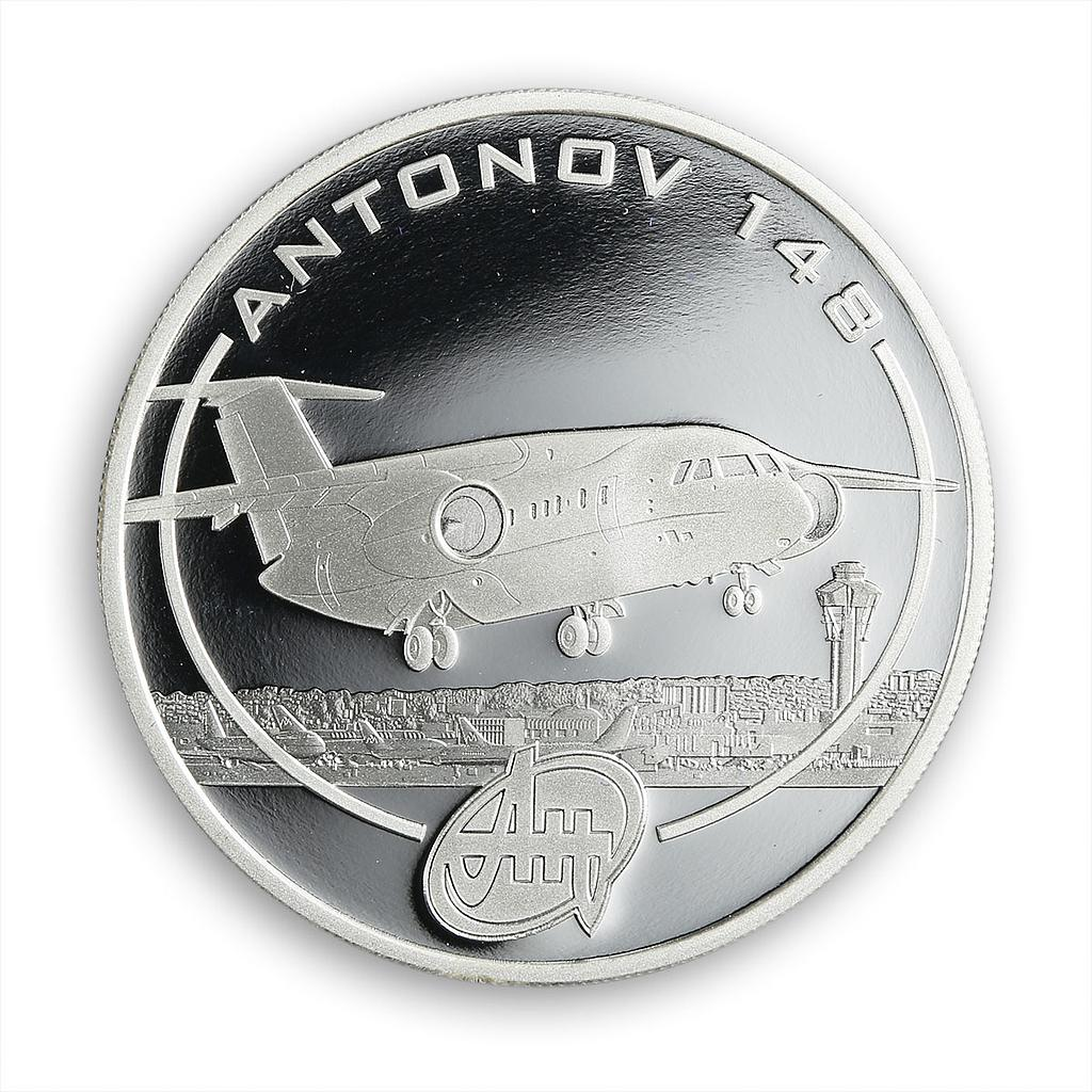Cook Islands $1 Aircraft Antonov An-148 1 Oz Silver Proof Coin 2008