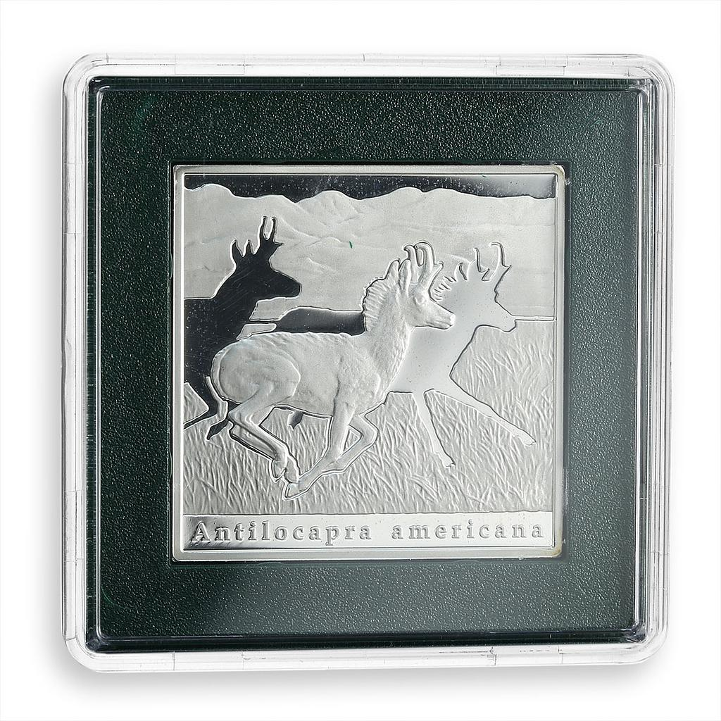 Niue 1 dollar Series Oddities of Nature Pronghorn silver rectangular coin 2010