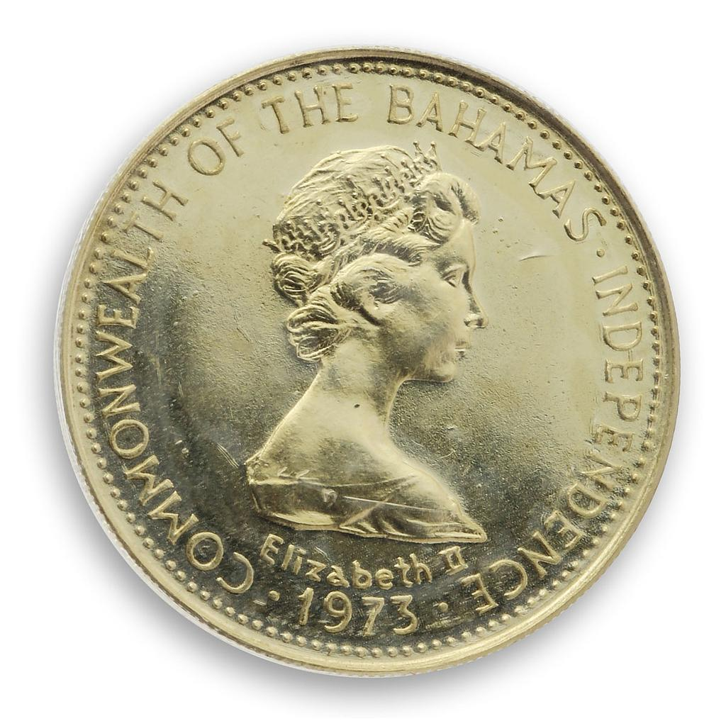 Bahamas 100 dollars Independence Day - July 10 Queen Elizabeth II gold coin 1973