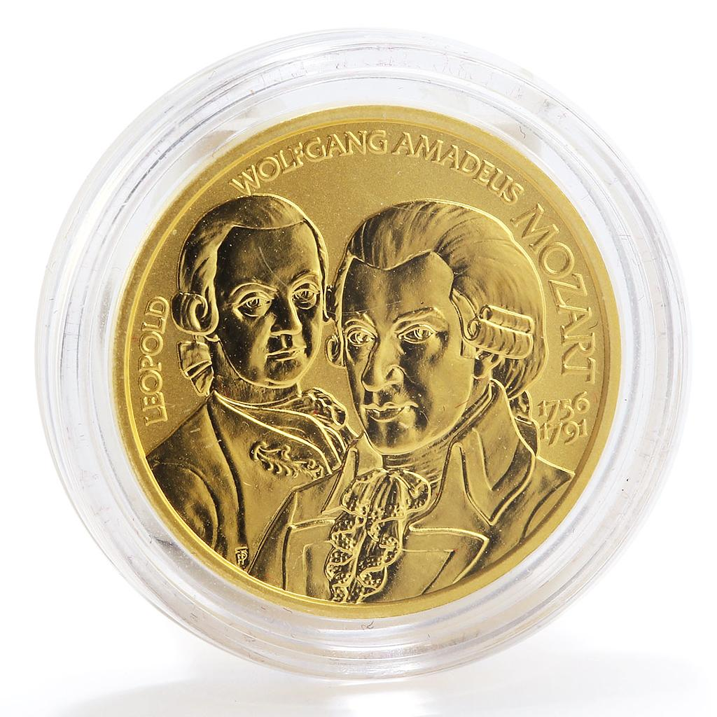 Austria 50 euro Great Composers Wolfgang Amadeus Mozart Music gold coin 2006