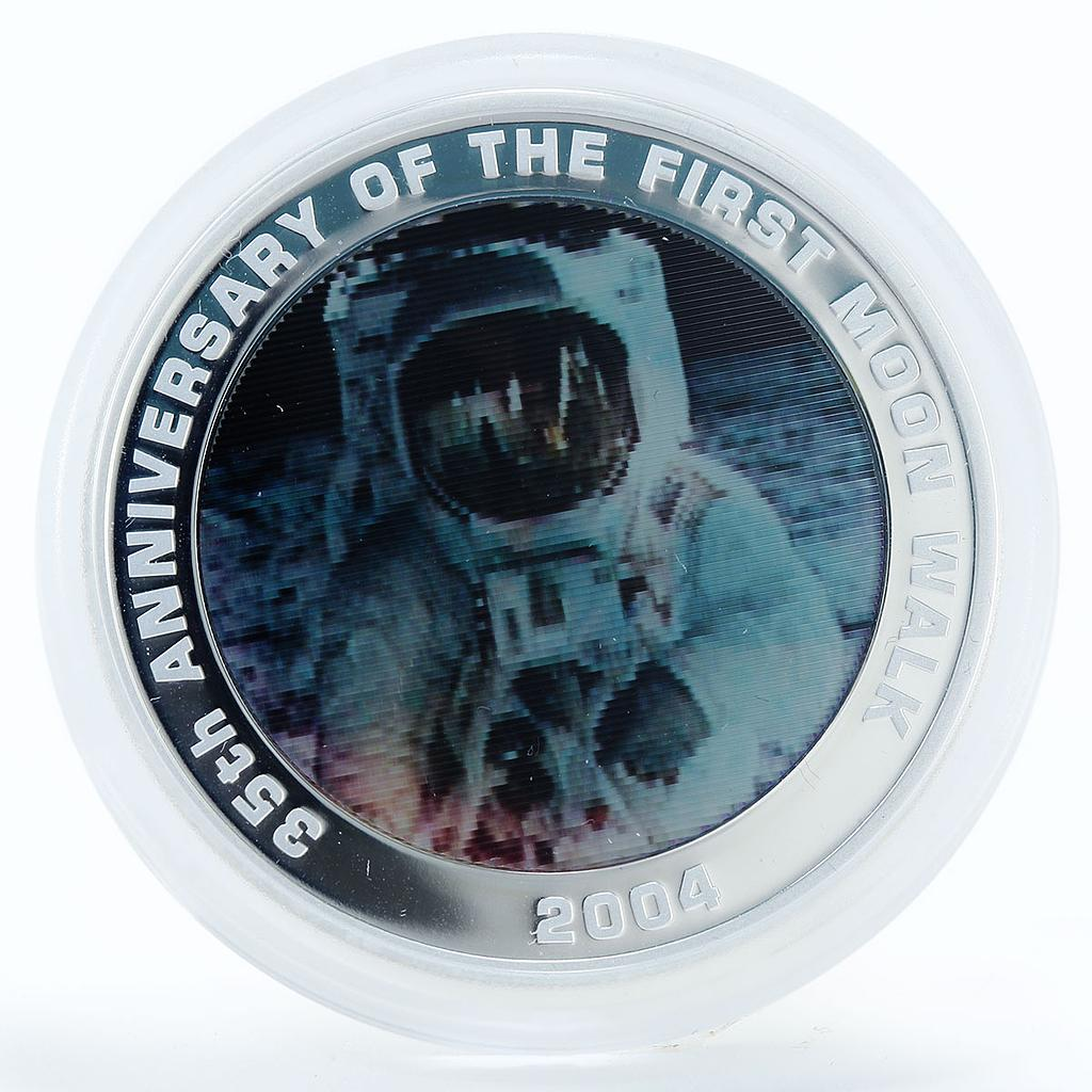 Australia 1 dollar 35th Anniversary of First Moon Walk silver coin 2004