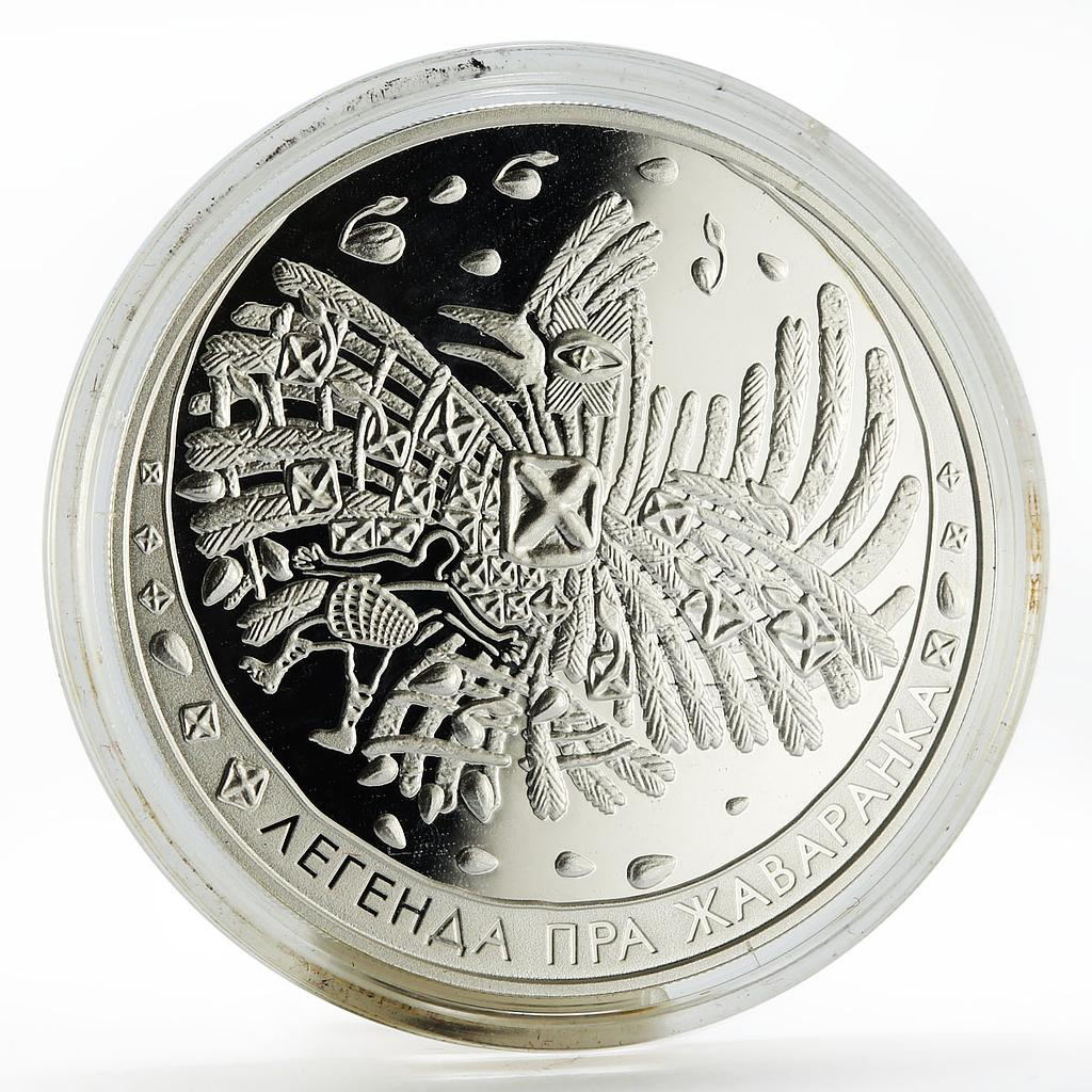 Belarus 20 rubles Folk Legends Series The Skylark proof silver coin 2009