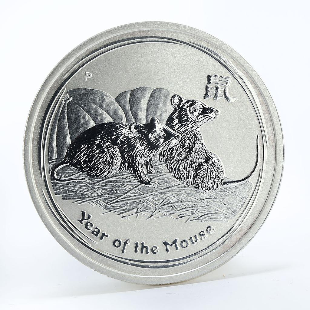 Australia 50 cent Year of the Mouse Lunar Series II 1/2 oz silver coin 2008