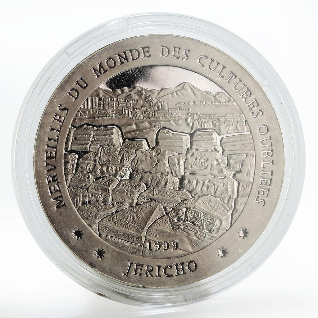 Chad 1000 francs  Forgotten Cultures - Jericho proof silver coin 1999