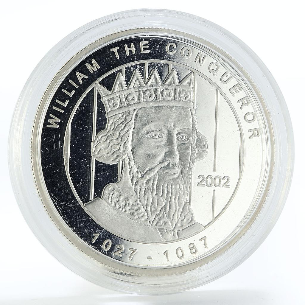 Ghana 500 sika William the Conqueror proof silver coin 2002