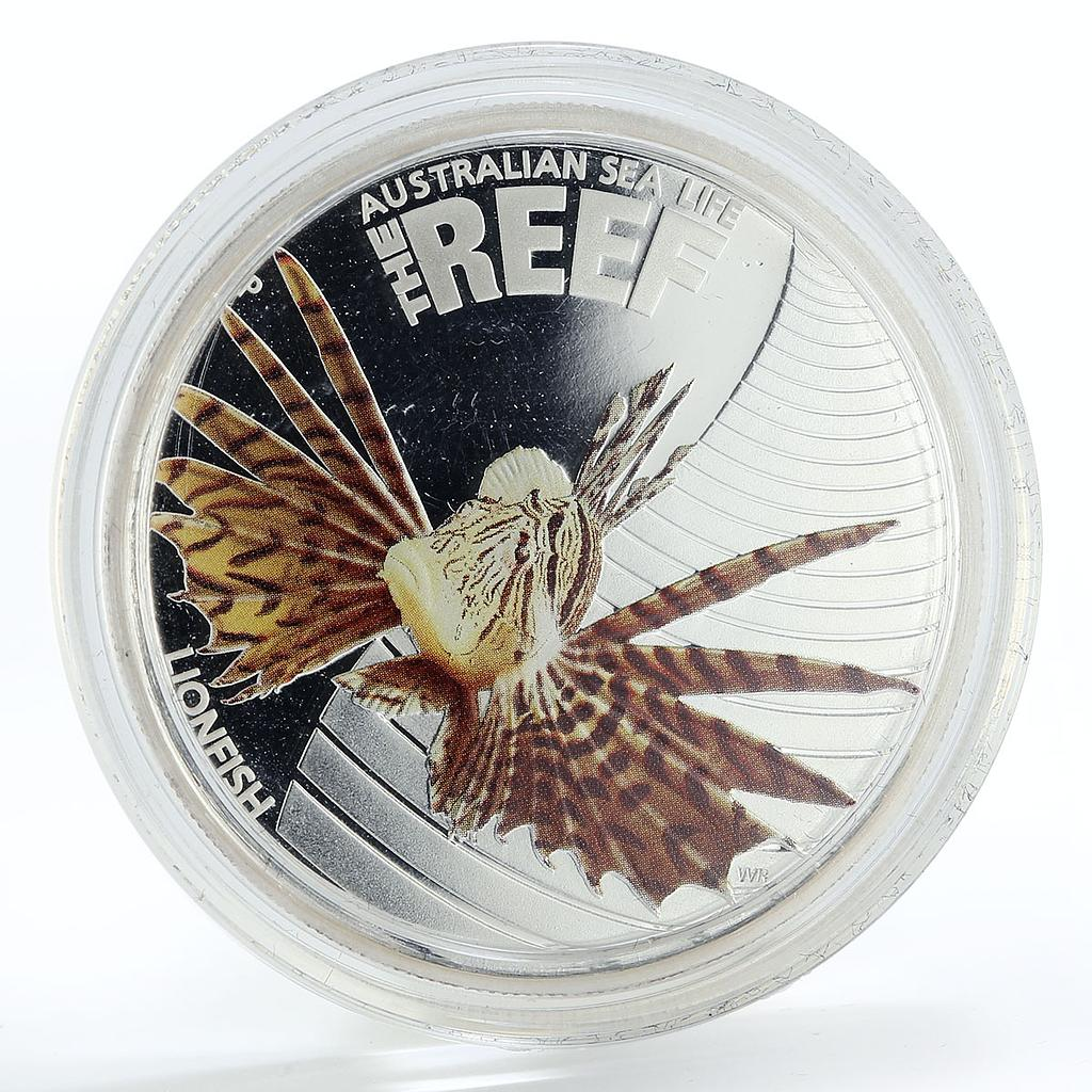 Australia 50 cents Sea Life Series - Lion Fish silver coin 2009