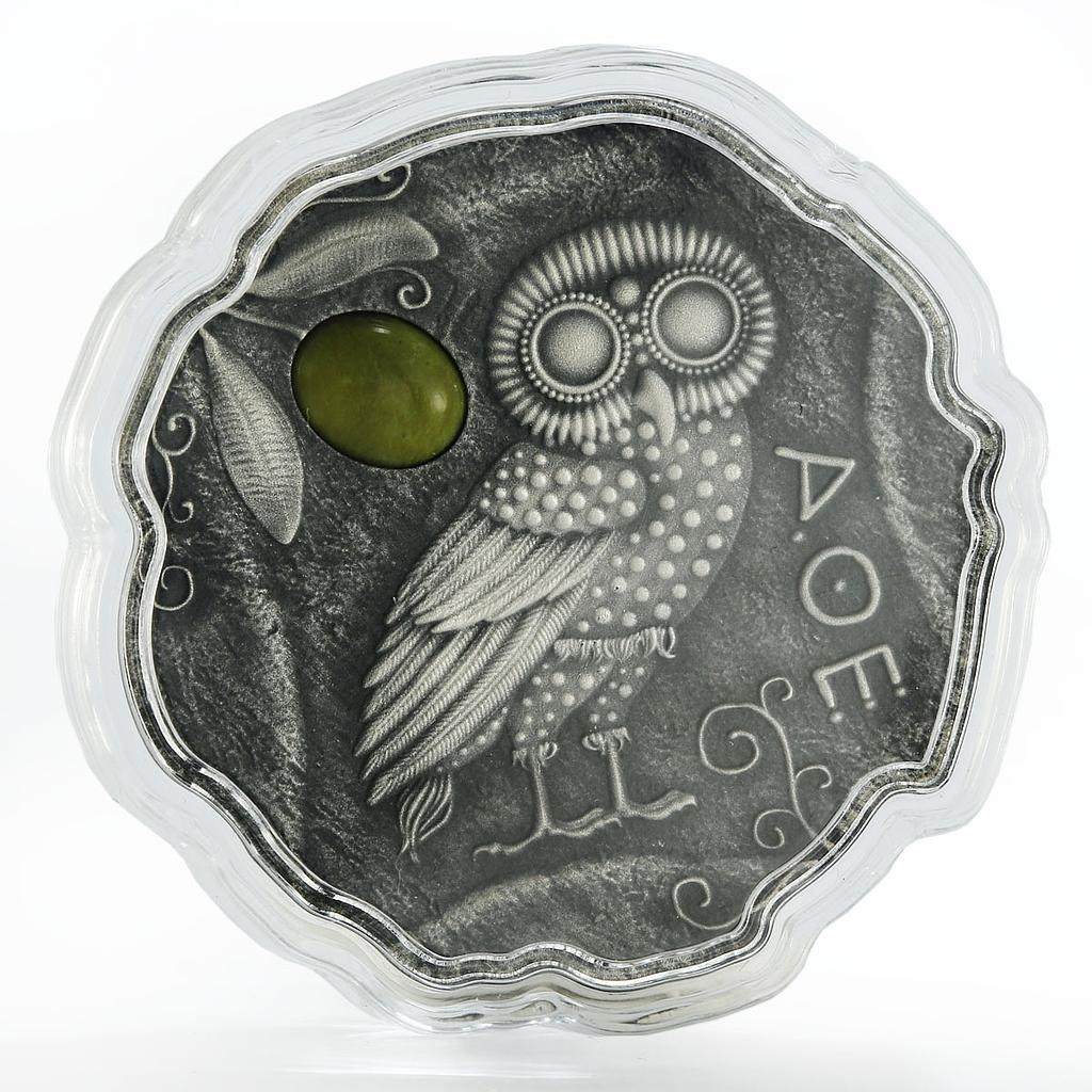 Cameroon 500 francs Owl of Athena stone silver coin 2017