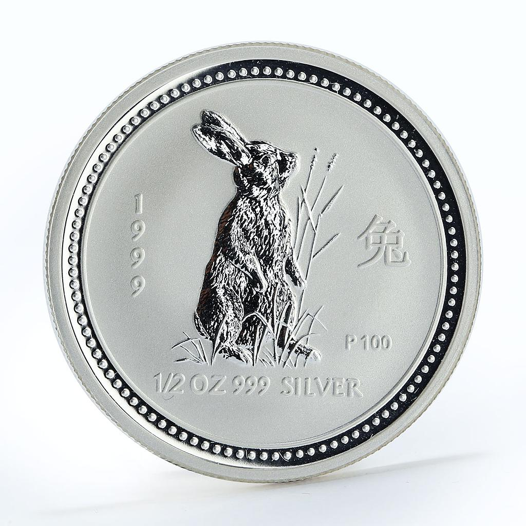 Australia 50 cents Year of the Rabbit Lunar Series I 1/2 oz silver coin 1999