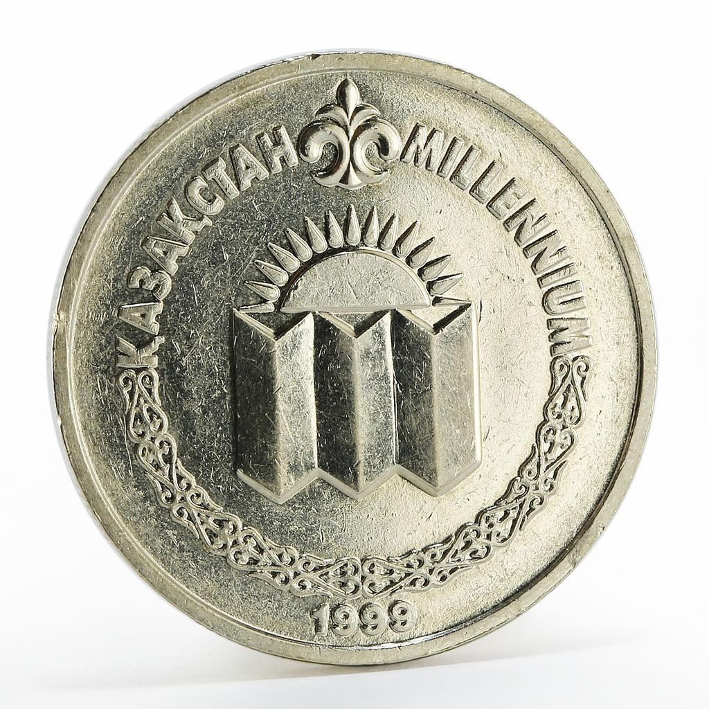 Kazakhstan 50 tenge Millennium solemn meeting copper-nickel coin 1999