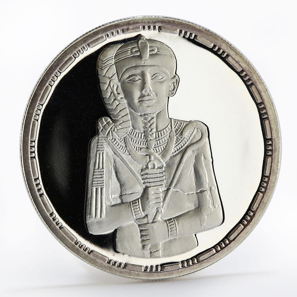 Egypt 5 pounds King Khonsu facing proof silver coin 1994